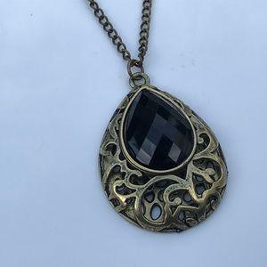 Jewelry - Women Necklace Fashion Jewelry Bronze/Black Tone